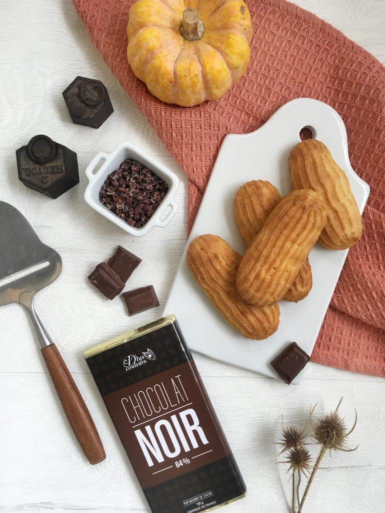 ingrédients éclairs au chocolat