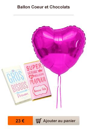 ballon et chocolat personnalisé