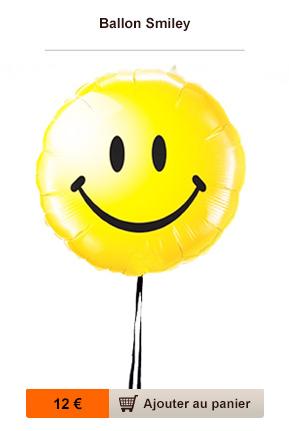 livraison ballon smiley