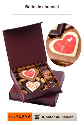 boite chocolat saint valentin
