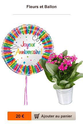 fleurs et ballon