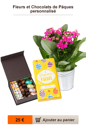 fleurs et chocolat paques