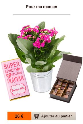 fleurs et chocolat fête des mères