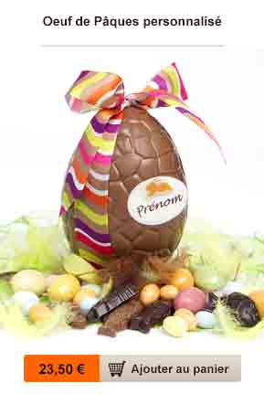 oeuf chocolat personnalise