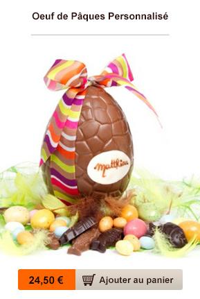 oeuf chocolat personnalisé