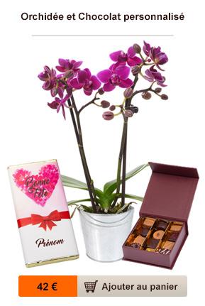orchidée et chocolat fête des mères